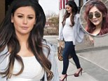 Mom-to-be JWoww steps out in heels... as Snooki 'steals her thunder' with pregnancy announcement