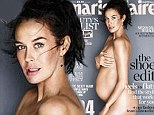Doing a Demi! Megan Gale, 38, bares her pregnancy figure in all of its glory as she poses nude on the front cover of Marie Claire magazine