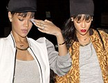 Hair today, gone tomorrow: Rihanna steps out with short hair less than a day after sporting long weave at the same restaurant