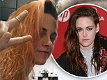 Embracing the lighter side! Kristen Stewart dyes her hair bright orange... but it's just  for a new movie role
