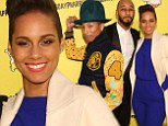 Up all night! Alicia Keys and Swizz Beatz are ready to party at Pharrell Williams' curious SpongeBob SquarePants themed 41st birthday
