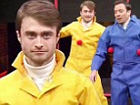 Daniel Radcliffe, 24, plays a silly game of Sticky Balls with Jimmy Fallon after saying he's too old to play Harry Potter