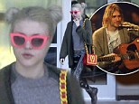 Clashing: Frances Bean Cobain was dressed very eccentrically as she ran errands last Thursday, March 27