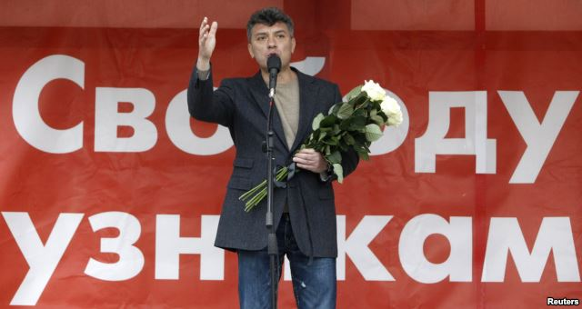 """""""We are not to be intimidated,"""" said Russian opposition figure Boris Nemtsov."""