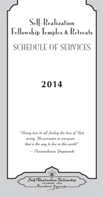 Schedule of Services 2014