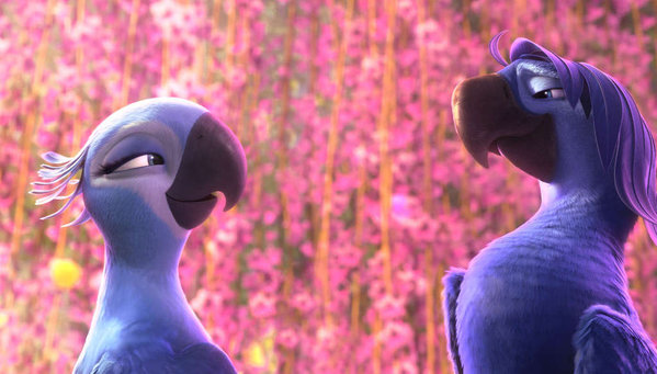 "Birds of a feather: The Blu family returns in ""Rio 2."""