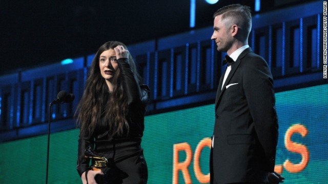 <strong>Song of the year: </strong>&quot;Royals&quot; by Lorde. The song also won best pop solo performance.
