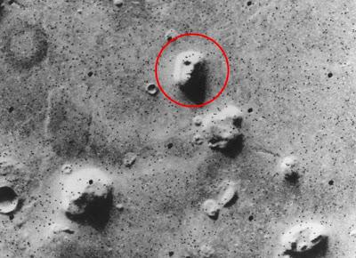 Gambar muka raksasa di Planet Mars