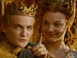 The king: King Joffrey was all smiles on Sunday at his wedding in the episode The Lion And The Rose on Game Of Thrones
