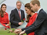 'We are moved': Somber Prince William and Duchess of Cambridge lay roses at Air Force memorial wall as they pay tribute to the Kiwi spirit following 2011 Christchurch earthquake