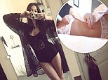 Jessica Gomes sizzles in a lacy black bodysuit as she flaunts her flawless figure in a photo posted to her Instagram page on Monday