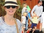 Naomi Watts and husband Liev Schreiber went to dinner with their kids