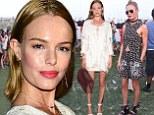 Desert dazzle! Kate Bosworth is blooming lovely in floral keyhole dress at Coachella before partying the night away in boho frock