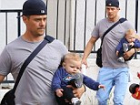 Josh Duhamel takes eight-month-old son Axl out for breakfast while Fergie parties at Coachella