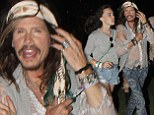 Father daughter bonding: Steven Tyler was seen walking arm in arm with his daughter Chelsea Anna Tallarico at Coachella in Indio, California on Saturday night