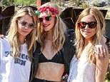 Model Mayhem! Poppy Delevingne joins Sienna Miller and sister Cara for Day 2 of her Coachella hen do