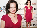 Cherry nice! Mad Men's Elisabeth Moss wows in curve-hugging cerise number at screening of her latest film