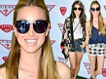 Leggy ladies: The Hills star Whitney Port and 90210 star Shenae Grimes were amongst those showing off their long slender stems in little Daisy Dukes while partying it up for Coachella in Southern California on Saturday