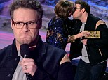 How he kissed his mother! Seth Rogan locks lips with 'mom' at MTV Movie Awards