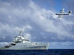 Hunt: The new theory comes as Royal Navy vessels take to the seas to join the search effort