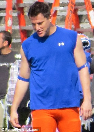 Undercover star: Channing Tatum filmed scenes for 22 Jump Street in New Orleans decked out in American football gear