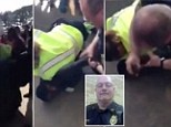 Officer Stephen Rivers (inset) was caught on video breaking the arm of a high school student while breaking up a school fight. Rivers reportedly used an improper technique while trying to handcuff the student