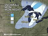 Say it ain't so: Deeply winter-weary Michigan will again see temperatures plummet Monday and the state's even poised to break an over 130-year-old yearlong snowfall record