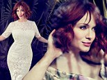 'He just wants a little credit': Mad Men's Christina Hendricks reveals husband Geoffrey Arend discovered her sexpot image first in new interview