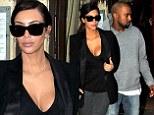 Kim Kardashian and Kanye West enjoy romantic dinner in Paris as they plan May nuptials