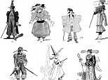 1900-1912: The Future Dictates of Fashion by W. Cade Gall was published in the January 1893 edition of The Strand magazine and contains illustrations of what he predicts will be the future of fashion