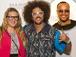 apl.de.ap performaing at Marquee Nightlcub, Sydney 11th April, 2014. With guest Will I Am, Redoo and Victoria Azarenka