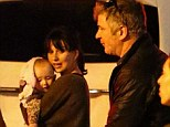 Family time: Alec Baldwin along with his wife Hilaria Thomas and baby Carmen in Calabasas