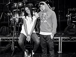 Behind the scenes: Eminem took to Instagram on Sunday to show him and Rihanna in their street gear, rehearsing for their performance of The Monster at the MTV Movie Awards in Los Angeles on Sunday