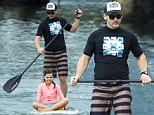 Eric Bana enjoyed some time out on the water last week when he took his wife Rebecca Gleeson and two children Sophia, 12 and Klaus, 14, on a paddle boarding expedition at Sydney's Balmoral Beach