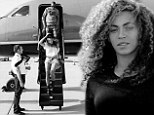 Now that's how to ride in style! Beyonce shares snaps of her luxurious jet-setting life as she arrives on a private plane to Coachella