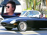 He's got The Jag Factor: Simon Cowell takes his £650k sports car for a solo sunset drive after roaring Britain's Got Talent success
