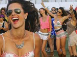 Letting loose: Alessandra Ambrosio danced her heart out at Coachella on Saturday