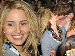 Love is in the air! Dianna Agron caught kissing new mystery man at Coachella ... after recent split from ex Nick Mathers