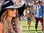 Blondes do have more fun! Vanessa Hudgens debuts dyed 'mermaid hair' as she poses in a bikini at Coachella
