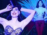 The show must go on! Dita Von Teese is still stripping at age 41 for her saucy Burlsesque show... but looks better than ever