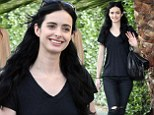 She's not so (Breaking) Bad: Krysten Ritter looks naturally pretty as she takes a stroll completely make-up free