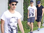Forget Camp Rock, he's camp Kate! Joe Jonas leaves Blanda Eggenschwiler behind for shopping trip with model Moss