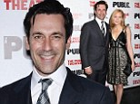 Making Don Draper proud! Jon Hamm and girlfriend Jennifer Westfeldt display their Mad style at the opening of her new play