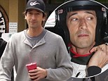 'I've seen some hairy incidents': Adrien Brody won't let any near misses deter him from racing as he steps out after competing in the Toyota Grand Prix