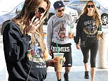 Twinning: Pete Wentz and his pregnant girlfriend Meagan Camper match for outing in Encino, California on Tuesday