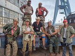 Here they come: (back row L-R) Terry Crews, Wesley Snipes (front row L-R) Dolph Lundgren, Sylvester Stallone, director Patrick Hughes, Randy Couture and Jason Statham