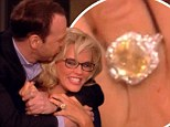 Engaged! Jenny McCarthy in tears as she reveals during The View boyfriend Donnie Wahlberg proposed with a large yellow sapphire ring