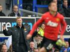 Manchester United manager David Moyes looks on during his side's defeat to Everton