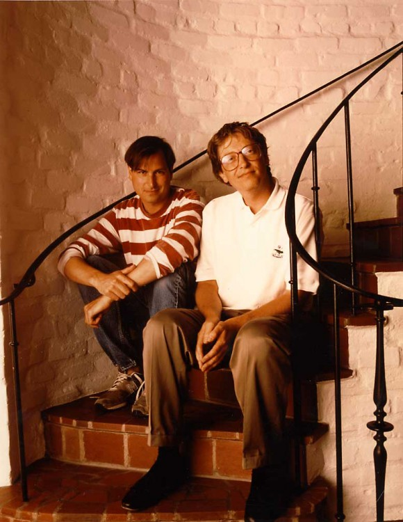 Steve jobs and Bill Gates (1991)