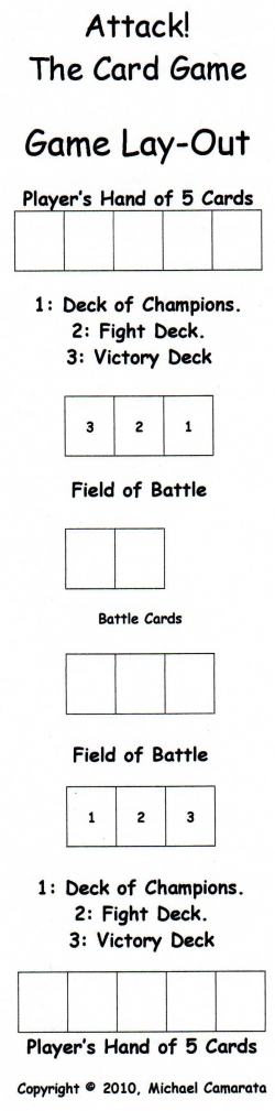 Attack! Card Game Lay-Out